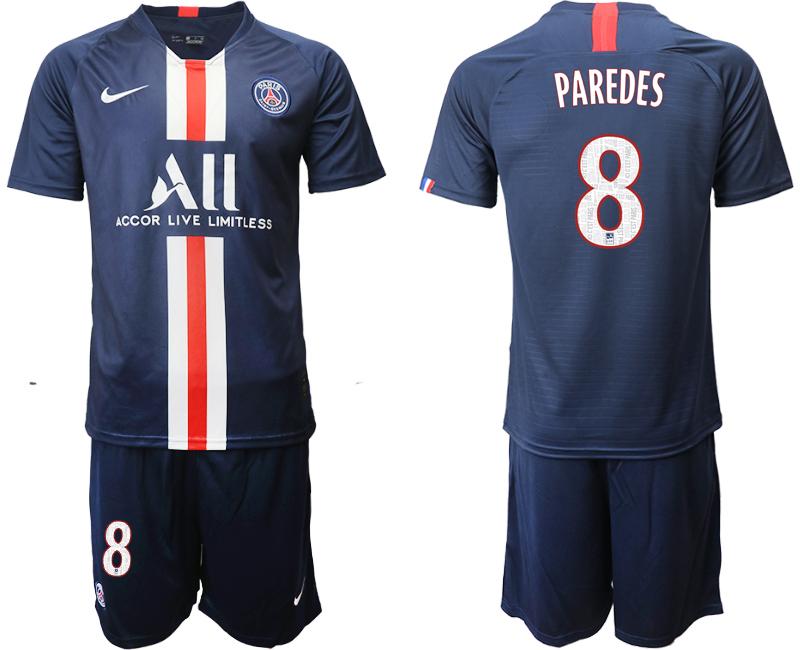 2019-20 Paris Saint-Germain 8 PAREDES Home Soccer Jersey