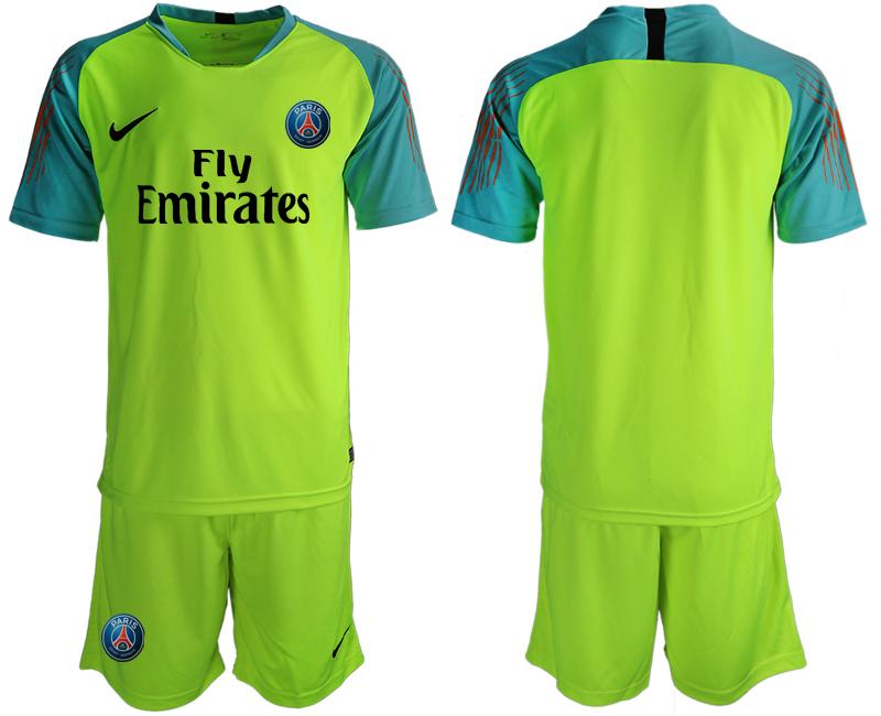 2019-20 Paris Saint-Germain Fluorescent Green Goalkeeper Soccer Jersey