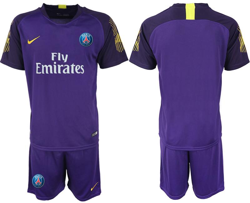 2019-20 Paris Saint-Germain Purple Goalkeeper Soccer Jersey