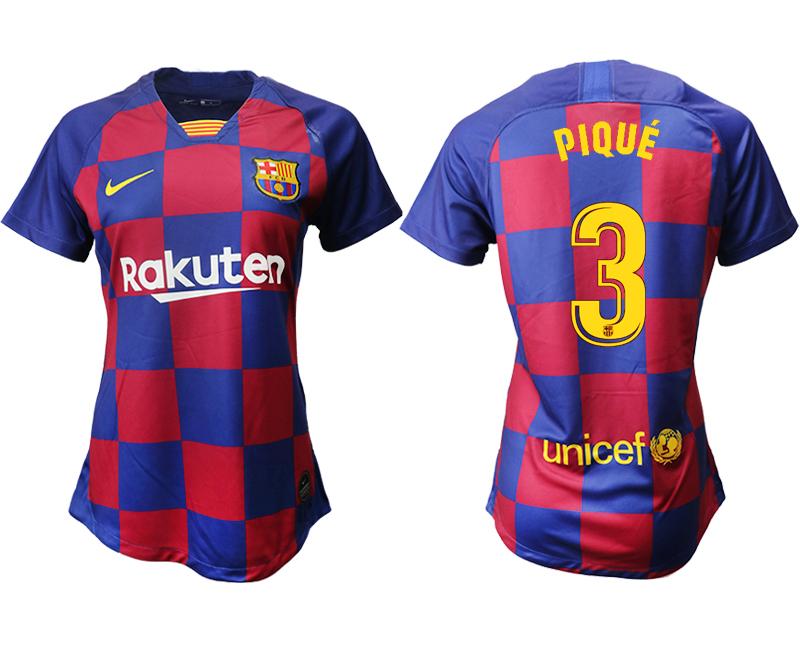 2019-20 Barcelona 3 PIQUE Home Women Soccer Jersey
