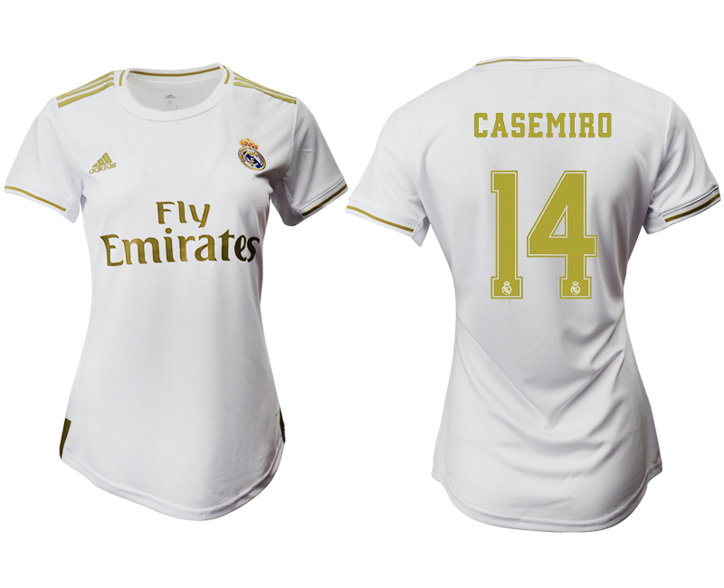 2019-20 Real Madrid 14 CASEMIRO Home Women Soccer Jersey