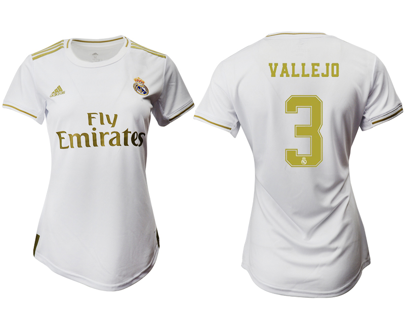 2019-20 Real Madrid 3 VALLEJO Home Women Soccer Jersey