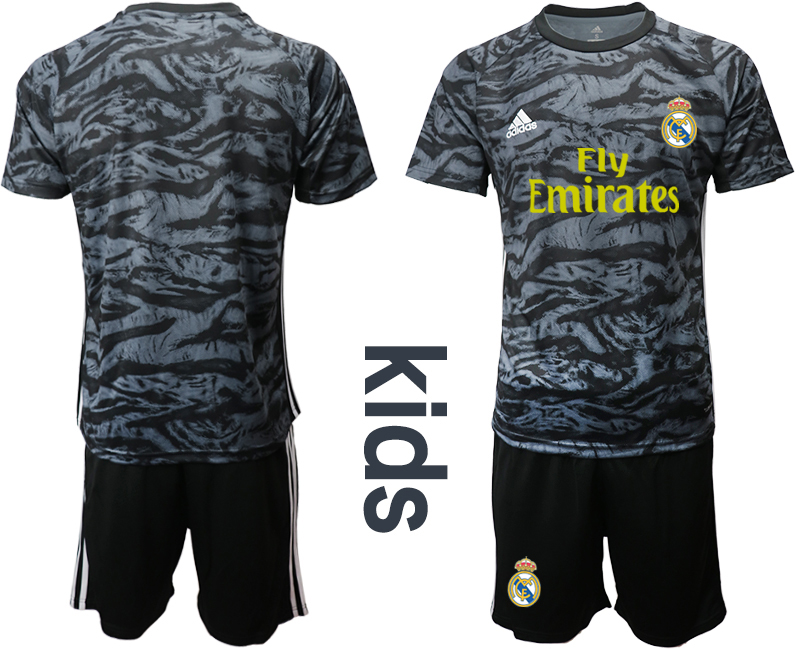 2019-20 Real Madrid Black Youth Goalkeeper Soccer Jersey
