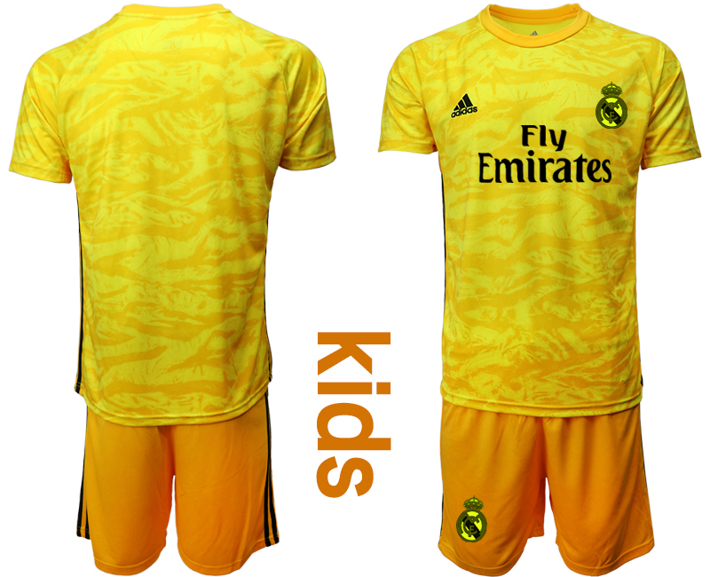 2019-20 Real Madrid Yellow Youth Goalkeeper Soccer Jersey