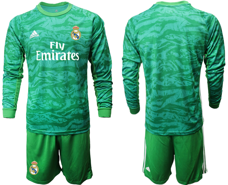 2019-20 Real Madrid Green Long Sleeve Goalkeeper Soccer Jersey