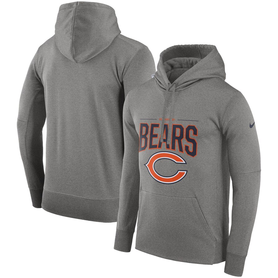 Chicago Bears Nike Sideline Property Of Performance Pullover Hoodie Gray