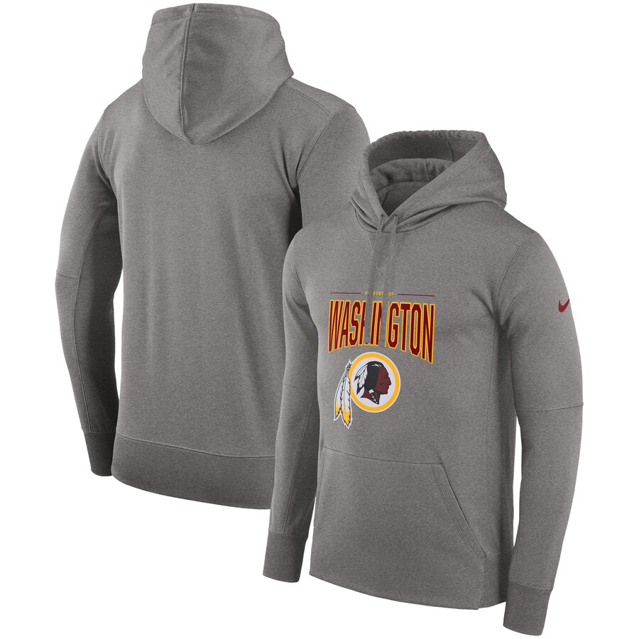 Washington Redskins Nike Sideline Property of Performance Pullover Hoodie Gray