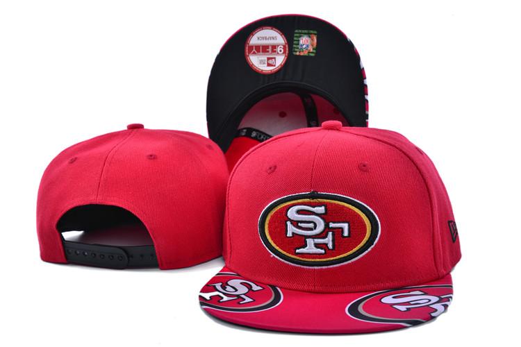 49ers Team Logo Red Adjustable Hat SF