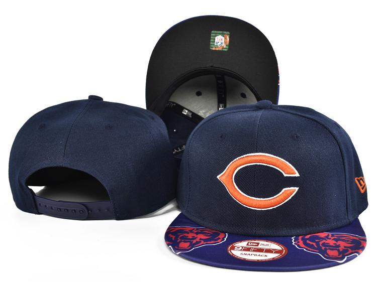 Bears Team Logo Navy Adjustable Hat SF