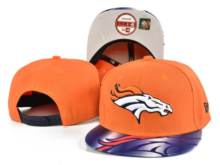 Broncos Team Logo Orange Adjustable Hat SF