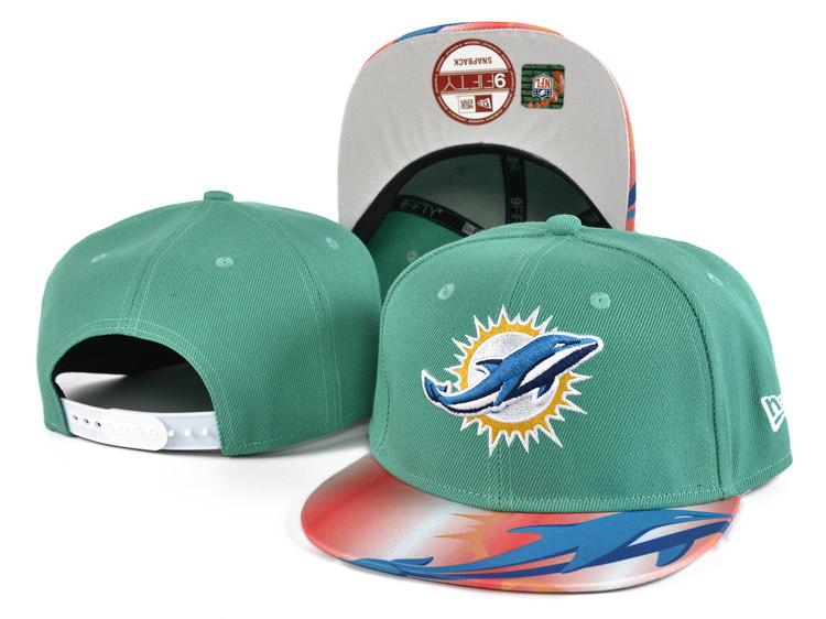 Dolphins Team Logo Aqua Adjustable Hat SF