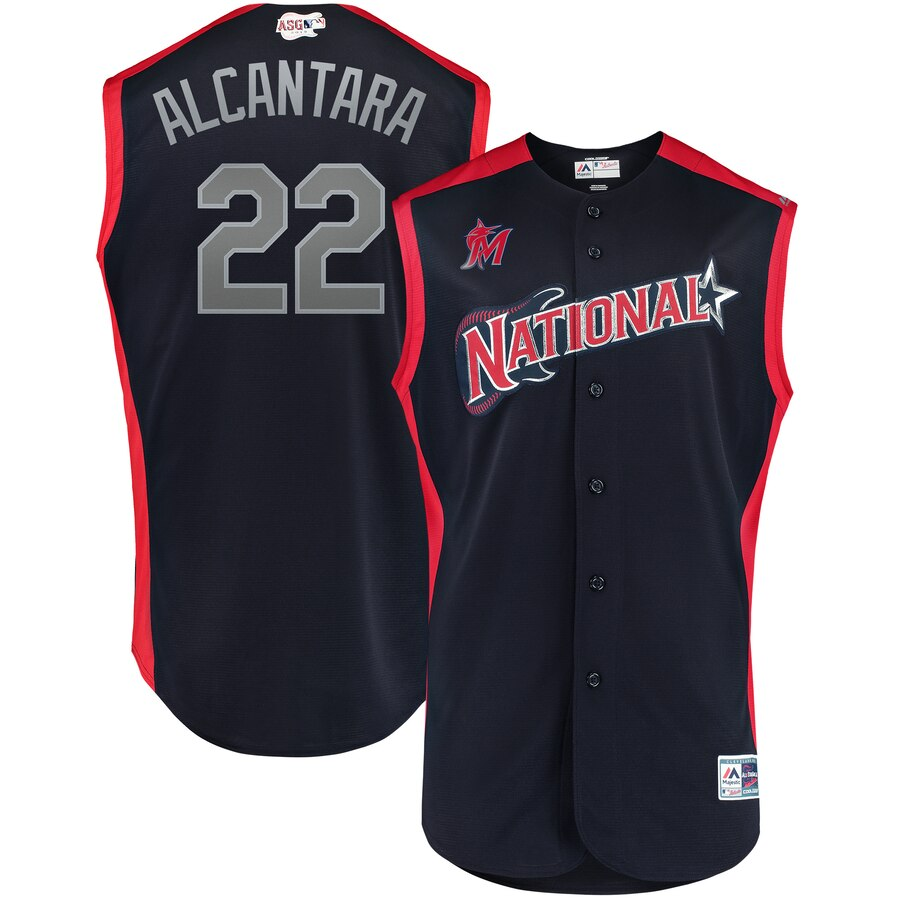 National League 22 Sandy Alcantara Navy 2019 MLB All-Star Game Workout Player Jersey