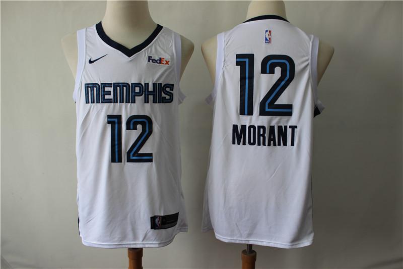 Grizzlies 12 Ja Morant White Nike Swingman Jersey