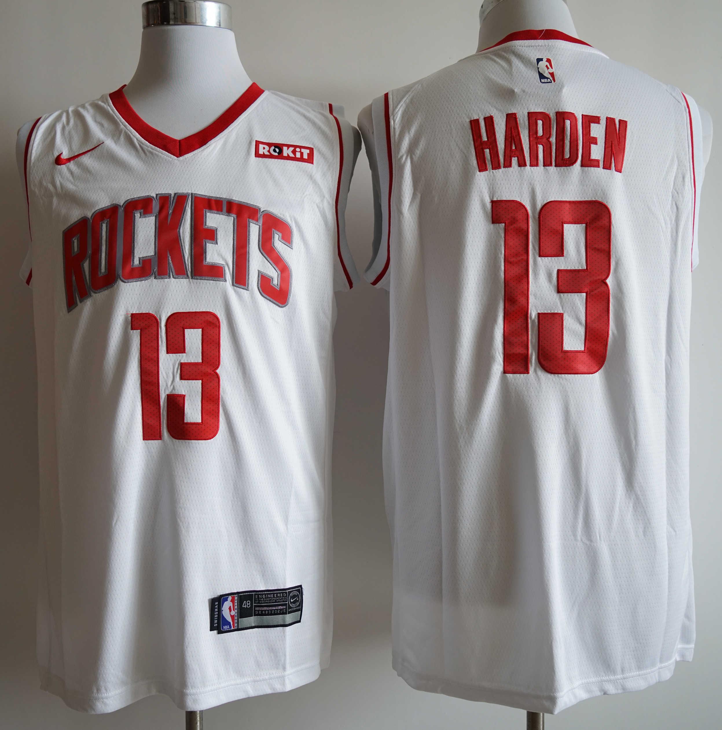 Rockets 13 James Harden White Nike Swingman Jersey