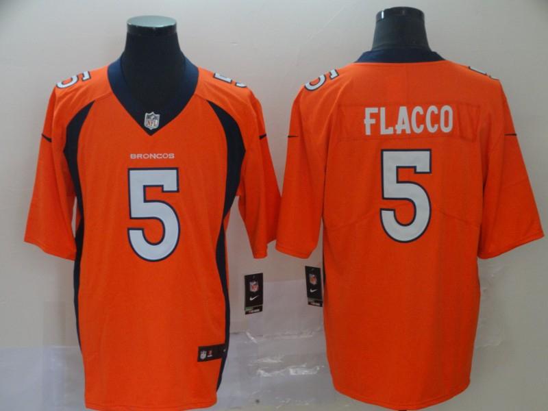 Nike Broncos 5 Joe Flacco Orange Vapor Untouchable Limited Jersey
