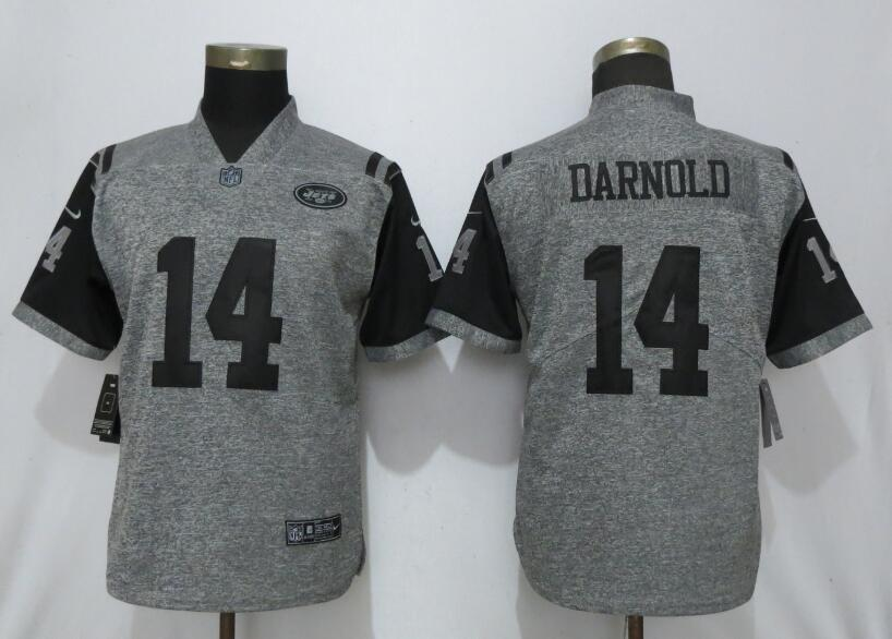 Nike Jets 14 Sam Darnold Gray Gridiron Gray Women Vapor Untouchable Limited Jersey
