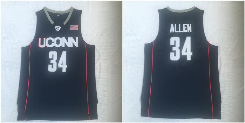 UConn Huskies 34 Ray Allen Navy College Basketball Jersey