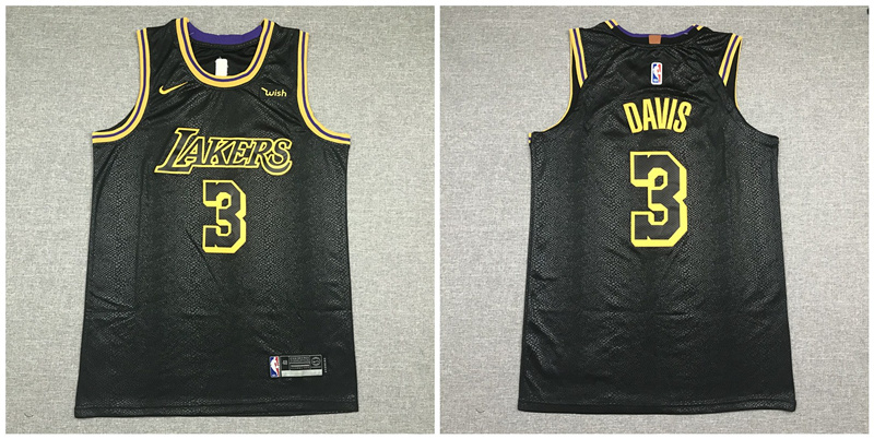 Lakers 3 Anthony Davis Black City Edition Nike Authentic Jersey
