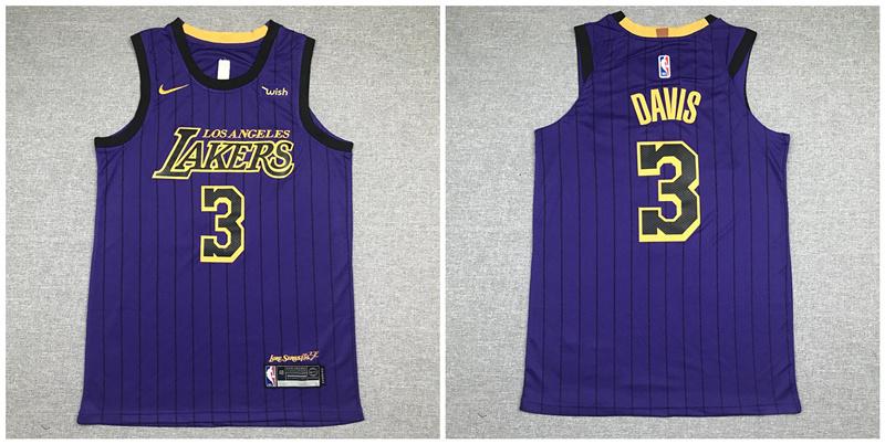 Lakers 3 Anthony Davis Purple Nike Authentic Jersey