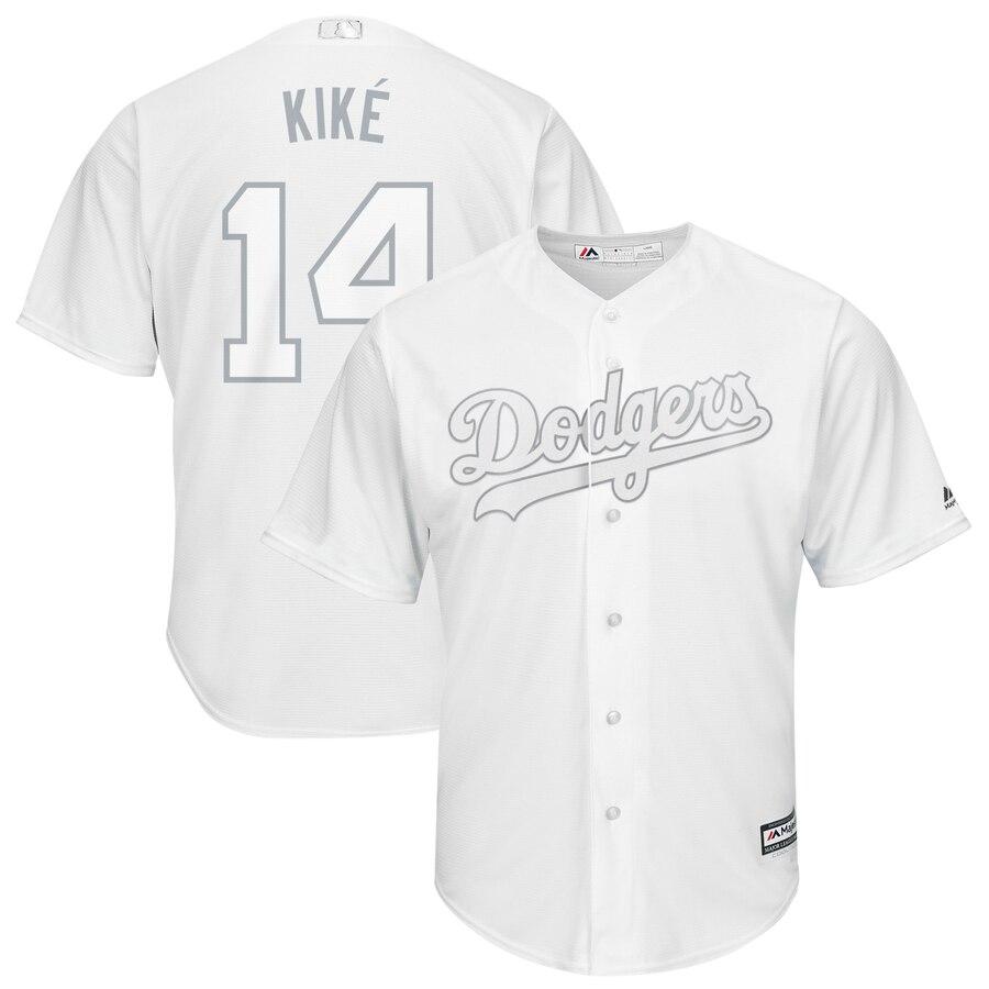 "Dodgers 14 Enrique Hernandez ""Kike"" White 2019 Players' Weekend Player Jersey"