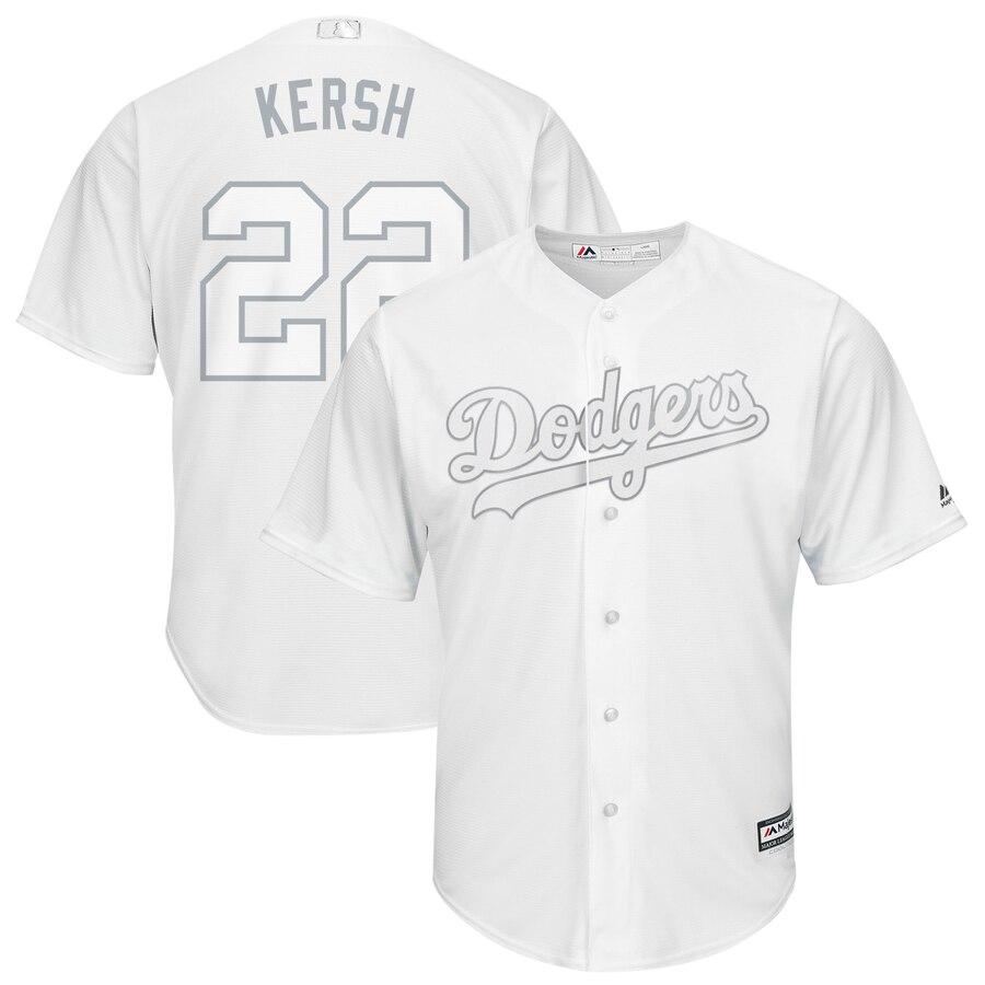 "Dodgers 22 Clayton Kershaw ""Kersh¡® White 2019 Players' Weekend Player Jersey"