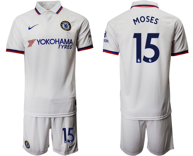 2019-20 Chelsea 15 MOSES Away Soccer Jersey