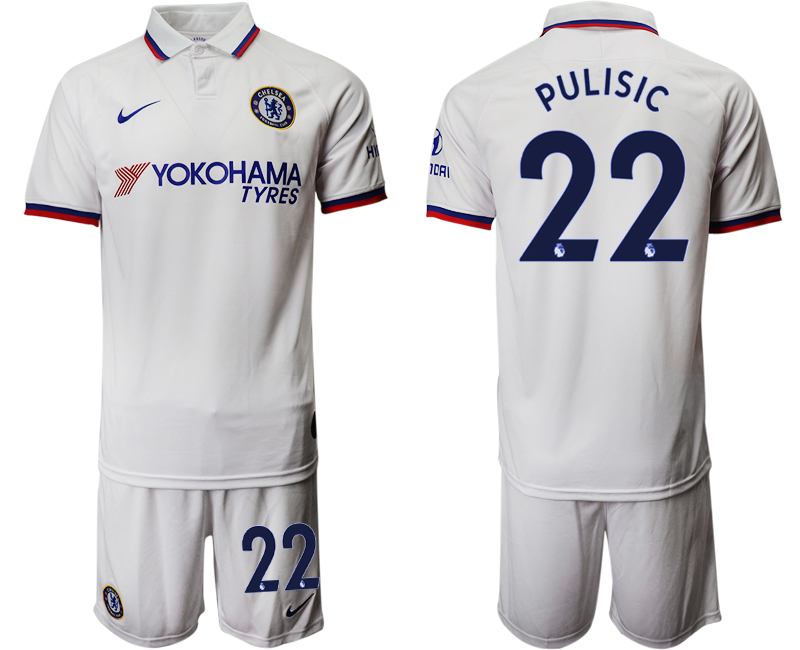 2019-20 Chelsea 22 PULISIC Away Soccer Jersey