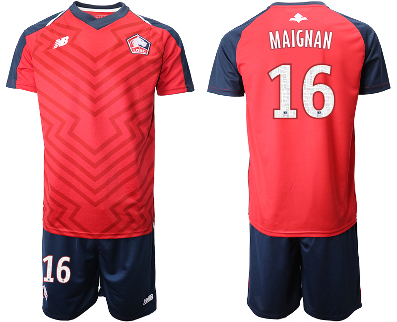 2019-20 Lille OSC 16 MAIGNAN Home Soccer Jersey