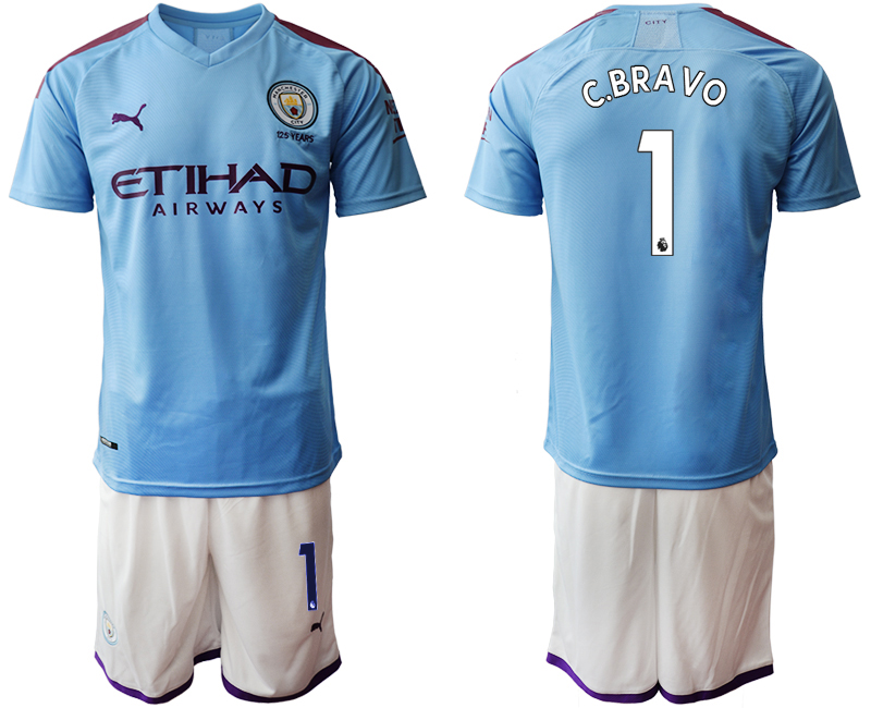 2019-20 Manchester City 1 C.BRAVO Home Soccer Jersey