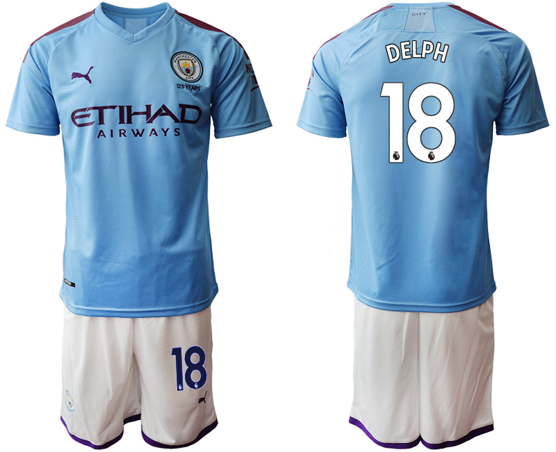 2019-20 Manchester City 18 DELPH Home Soccer Jersey