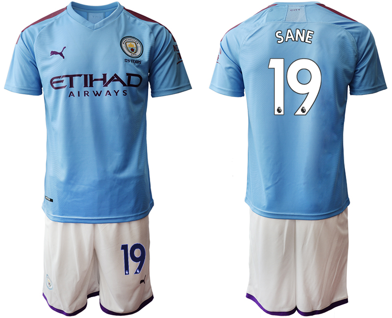 2019-20 Manchester City 19 SANE Home Soccer Jersey