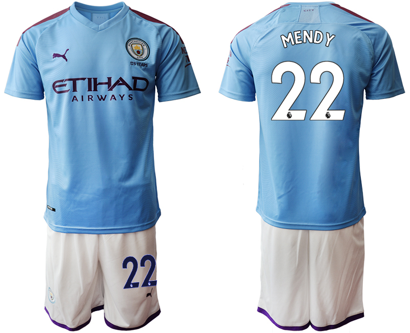 2019-20 Manchester City 22 MENDY Home Soccer Jersey