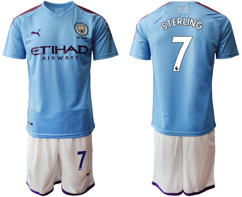 2019-20 Manchester City 7 STERLING Home Soccer Jersey