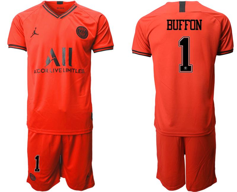 2019-20 Paris Saint-Germain 1 BUFFON Away Soccer Jersey