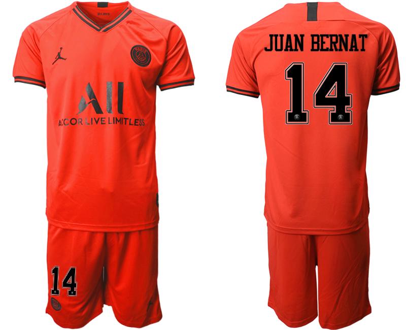2019-20 Paris Saint-Germain 14 JUAN BERNAT Away Soccer Jersey
