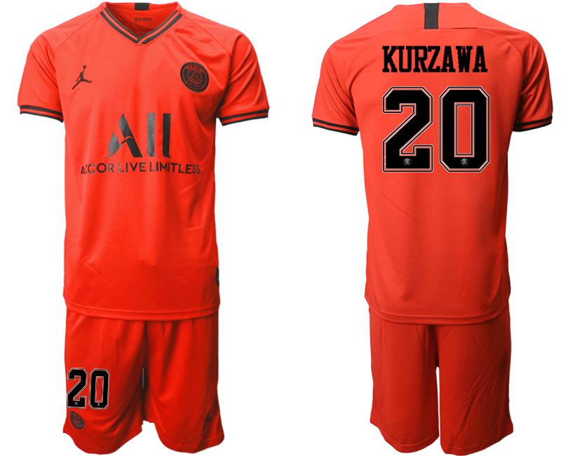 2019-20 Paris Saint-Germain 20 KURZAWA Away Soccer Jersey