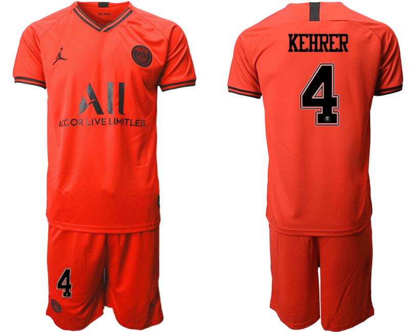 2019-20 Paris Saint-Germain 4 KEHRER Away Soccer Jersey