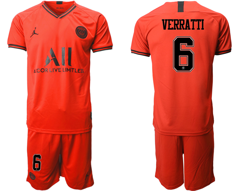 2019-20 Paris Saint-Germain 6 VERRATTI Away Soccer Jersey