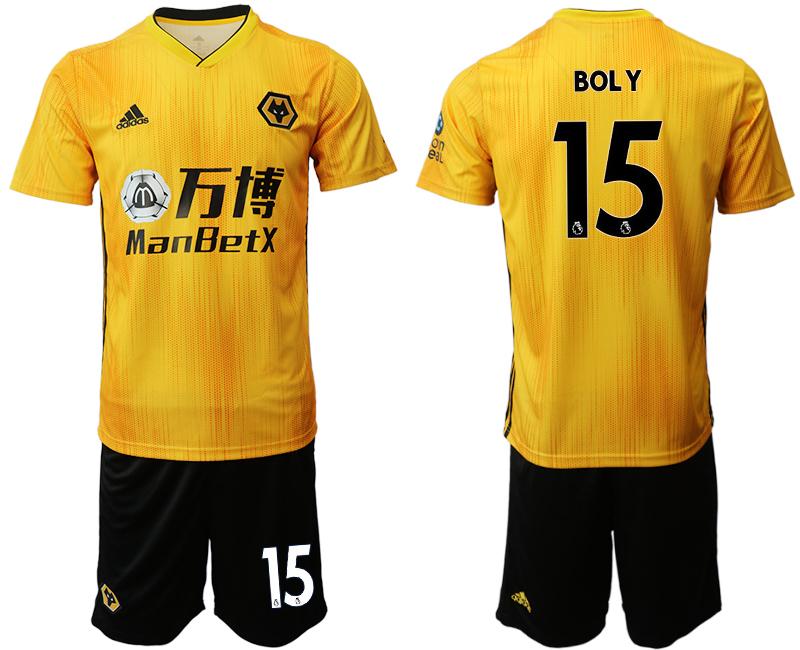 2019-20 Wolverhampton Wanderers 15 BOL Y Home Soccer Jersey