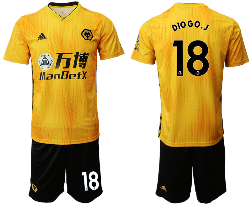 2019-20 Wolverhampton Wanderers 18 DIO G O. J Home Soccer Jersey