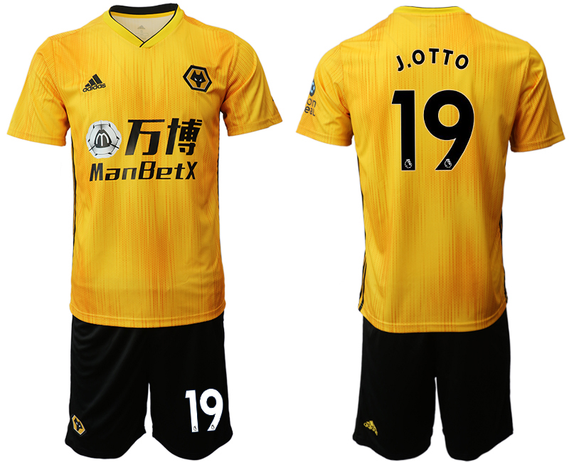2019-20 Wolverhampton Wanderers 19 J.O T T O Home Soccer Jersey