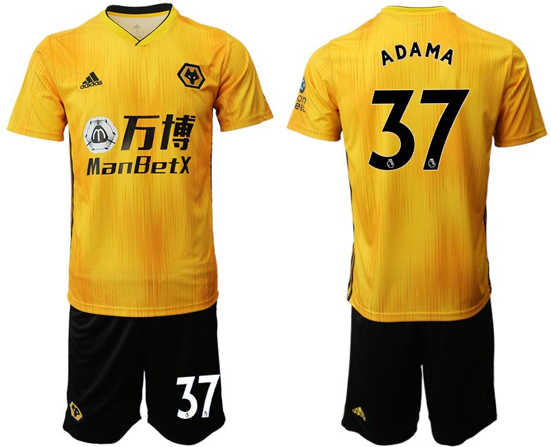 2019-20 Wolverhampton Wanderers 37 ADAMA Home Soccer Jersey