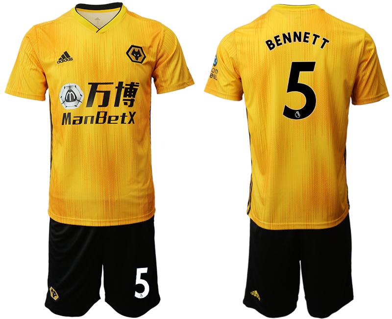 2019-20 Wolverhampton Wanderers 5 BENNETT Home Soccer Jersey