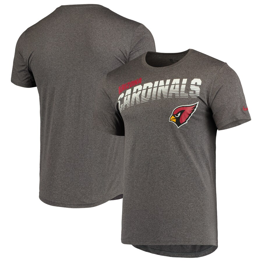 Arizona Cardinals Nike Sideline Line of Scrimmage Legend Performance T Shirt Heathered Gray