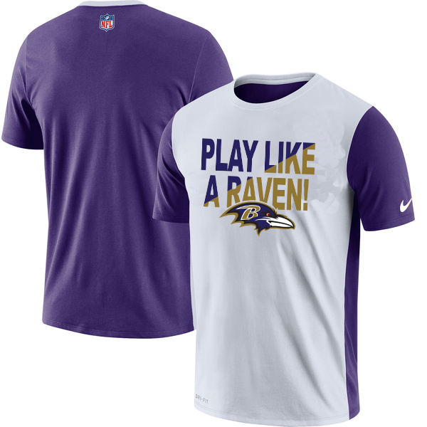 Baltimore Ravens Nike Performance T Shirt White