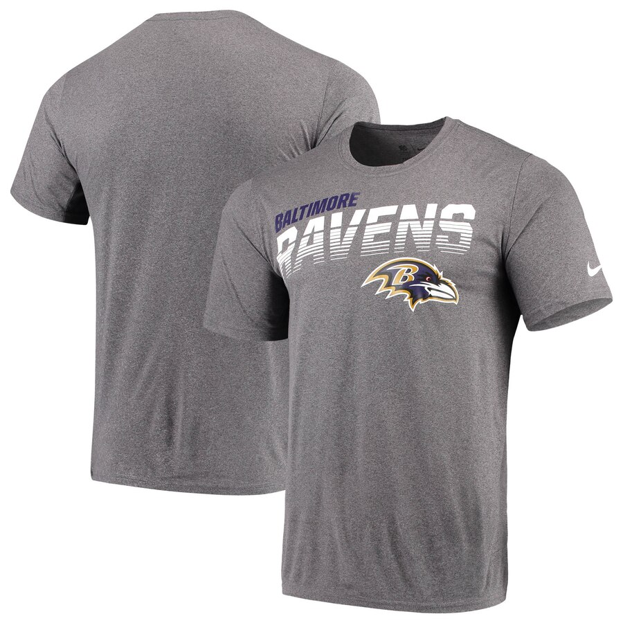Baltimore Ravens Nike Sideline Line of Scrimmage Legend Performance T Shirt Gray