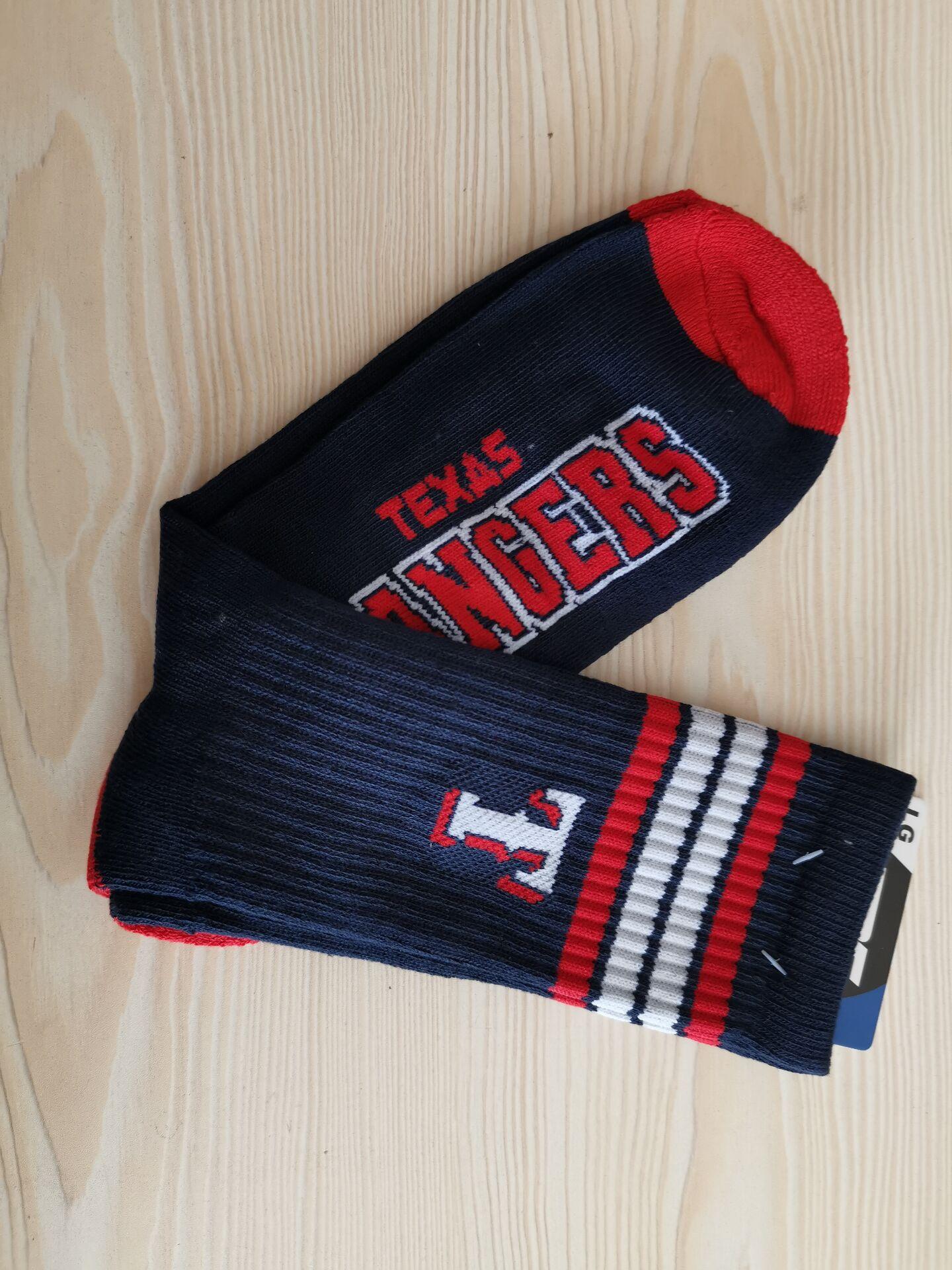 Texas Rangers Team Logo Navy MLB Socks