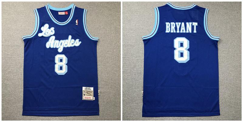 Lakers 8 Kobe Bryant Blue 1996-97 Hardwood Classics Jersey