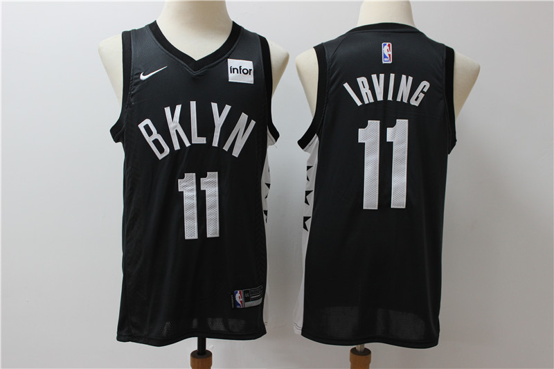 Nets 11 Kyrie Irving Black Nike Swingman Jersey