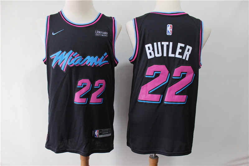 Heat 22 Jimmy Butler Black City Edition Nike Swingman Jersey